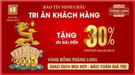 Cơ Hội Mua Vàng Rồng Thăng Long Giảm Đến 30% Chênh Lệch Mua Bán