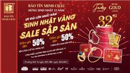 [Báo Dantri.com.vn] Mừng sinh nhật 32 năm, Bảo Tín Minh Châu tri ân 3 ngày vàng sale off đến 50%