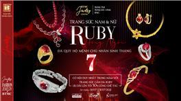 Bảo Tín Minh Châu ra mắt mẫu trang sức Ruby mới chào tháng 7