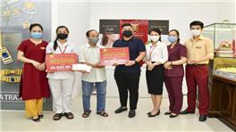 Ban TGĐ, BCH Công Đoàn, tập thể CBNV Bảo Tín Minh Châu ủng hộ gia đình thành viên gặp khó khăn